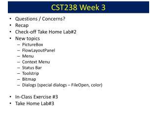 CST238 Week 3