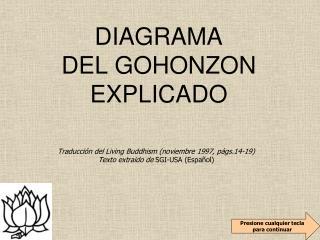 DIAGRAMA DEL GOHONZON EXPLICADO