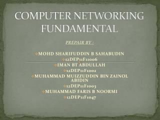 COMPUTER NETWORKING FUNDAMENTAL