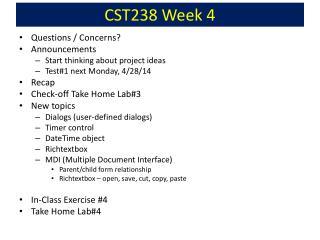 CST238 Week 4