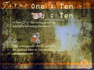 One : Ten – Two : Ten