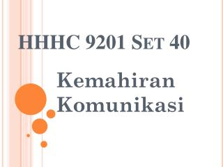 HHHC 9201 Set 40