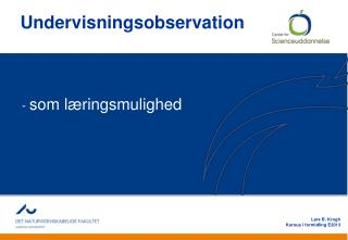 Undervisnings o bservation
