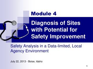 Diagnosis of  Sites with Potential for Safety Improvement