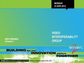 Monday 23 Apr 2012