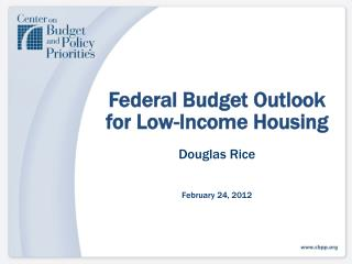 Federal Budget Outlook for Low-Income Housing