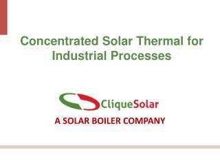 A SOLAR BOILER COMPANY