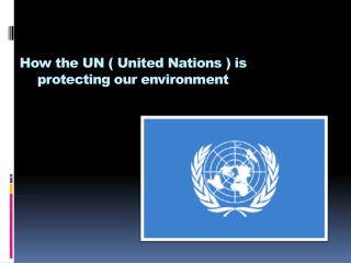 How the UN ( United Nations ) is protecting our environment