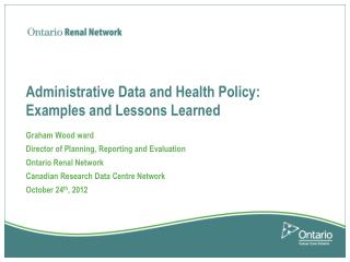 Administrative Data and Health Policy: Examples and Lessons Learned