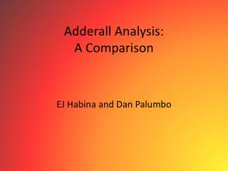 Adderall Analysis: A Comparison