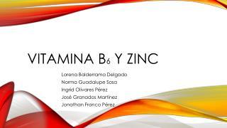 VITAMINA B 6  Y ZINC