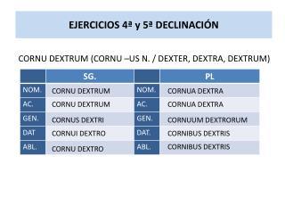 EJERCICIOS 4ª y 5ª DECLINACIÓN