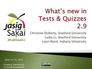 What's new in Tests  & Quizzes  2.9