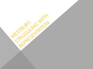 Westbury: struggling with representation