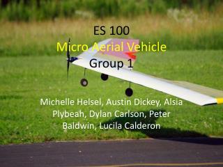 ES  100  Micro Aerial Vehicle Group 1