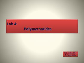 Lab 4: Polysaccharides