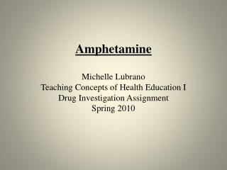 Amphetamine Names