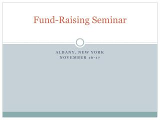 Fund-Raising  Seminar