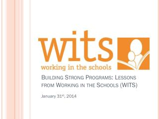 Building Strong Programs: Lessons from Working in the Schools (WITS)