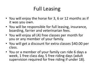 Full Leasing