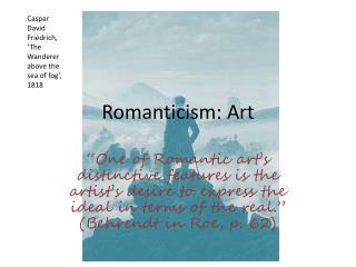 Romanticism: Art