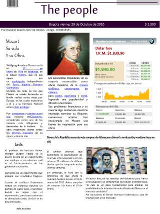 Mozart S u  vida Y su Obra .