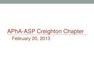 APhA -ASP Creighton Chapter
