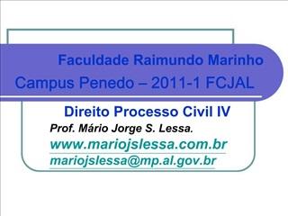 Direito Processo Civil IV