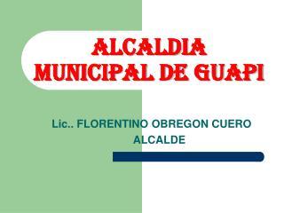 ALCALDIA MUNICIPAL DE GUAPI