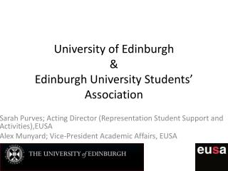 University of Edinburgh & Edinburgh University Students' Association