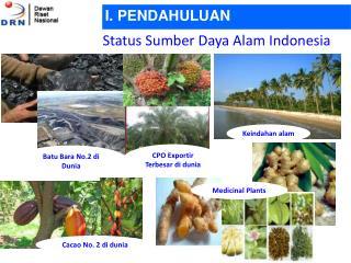 Status Sumber Daya Alam Indonesia
