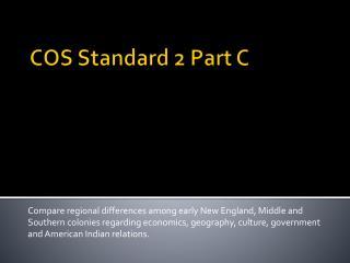 COS Standard 2 Part C