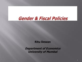 Gender & Fiscal Policies