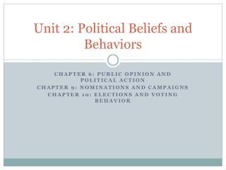 Unit 2: Political Beliefs and Behaviors