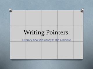 Writing  Pointers: