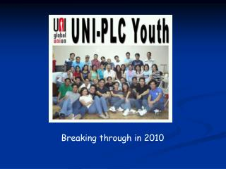 Breaking through in 2010