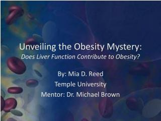 Unveiling the Obesity  Mystery: Does Liver Function Contribute to Obesity?