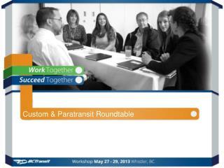 Custom & Paratransit Roundtable