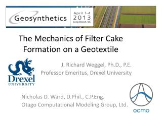 The Mechanics of Filter Cake Formation on a Geotextile