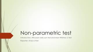 Non-parametric test