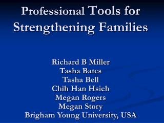 Professional  Tools for Strengthening Families