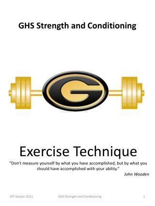 GHS Strength and Conditioning