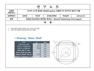 Maxwell 을 이용한  IPMSM rotor drawing  및 설정 기본  4 극 이용하여 설정    추후 다극 설정