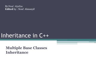 Inheritance in C++