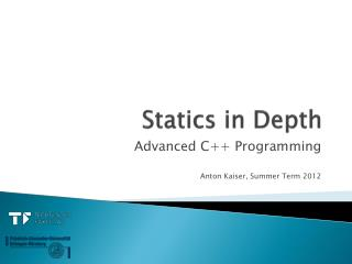Statics  in  Depth