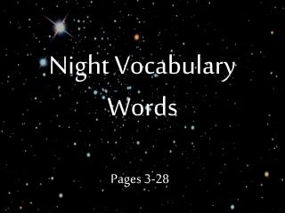Night Vocabulary Words