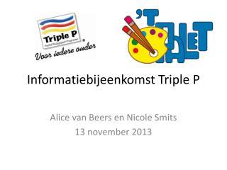 Informatiebijeenkomst Triple P
