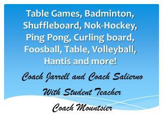 Coach Jarrell and  C oach Salierno With Student Teacher Coach  Mountsier