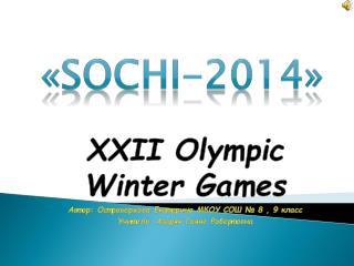 « SOCHI-2014 »
