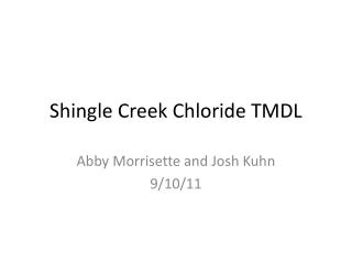 Shingle Creek Chloride TMDL